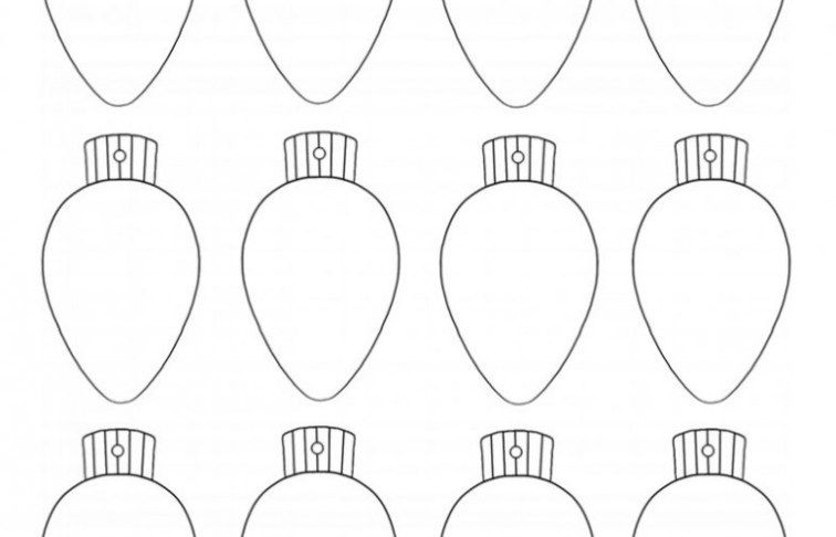Coloring Pages Christmas Light Bulb Coloring Page Lights Christmas Light Bulbs Christmas Lights Light Bulb