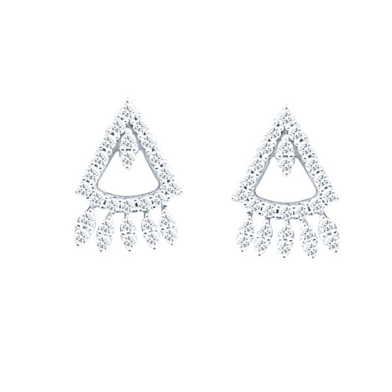 Giantti Silver Diamond Women s Stud Earring IGL Certified 0 548