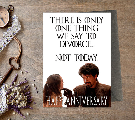 Not Today Anniversary Card Instant Download Includes 1 High Resolution Pdf File Of A 5 Funny Anniversary Cards Anniversary Cards Anniversary Card Messages