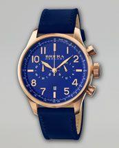 Brera Classico Men's Chronograph Watch, Navy/Gold  $695.00