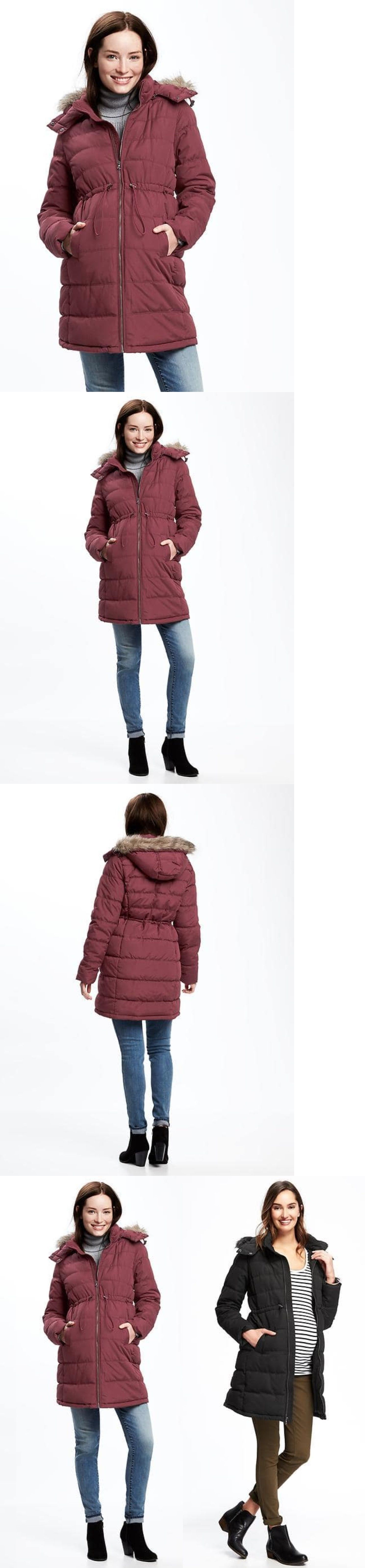 d6cd8d228fea6 Coats and Jackets 63856: Old Navy Nwt Maternity Hooded Frost Free Puffer  Parka Coat Jacket M -> BUY IT NOW ONLY: $69 on eBay!