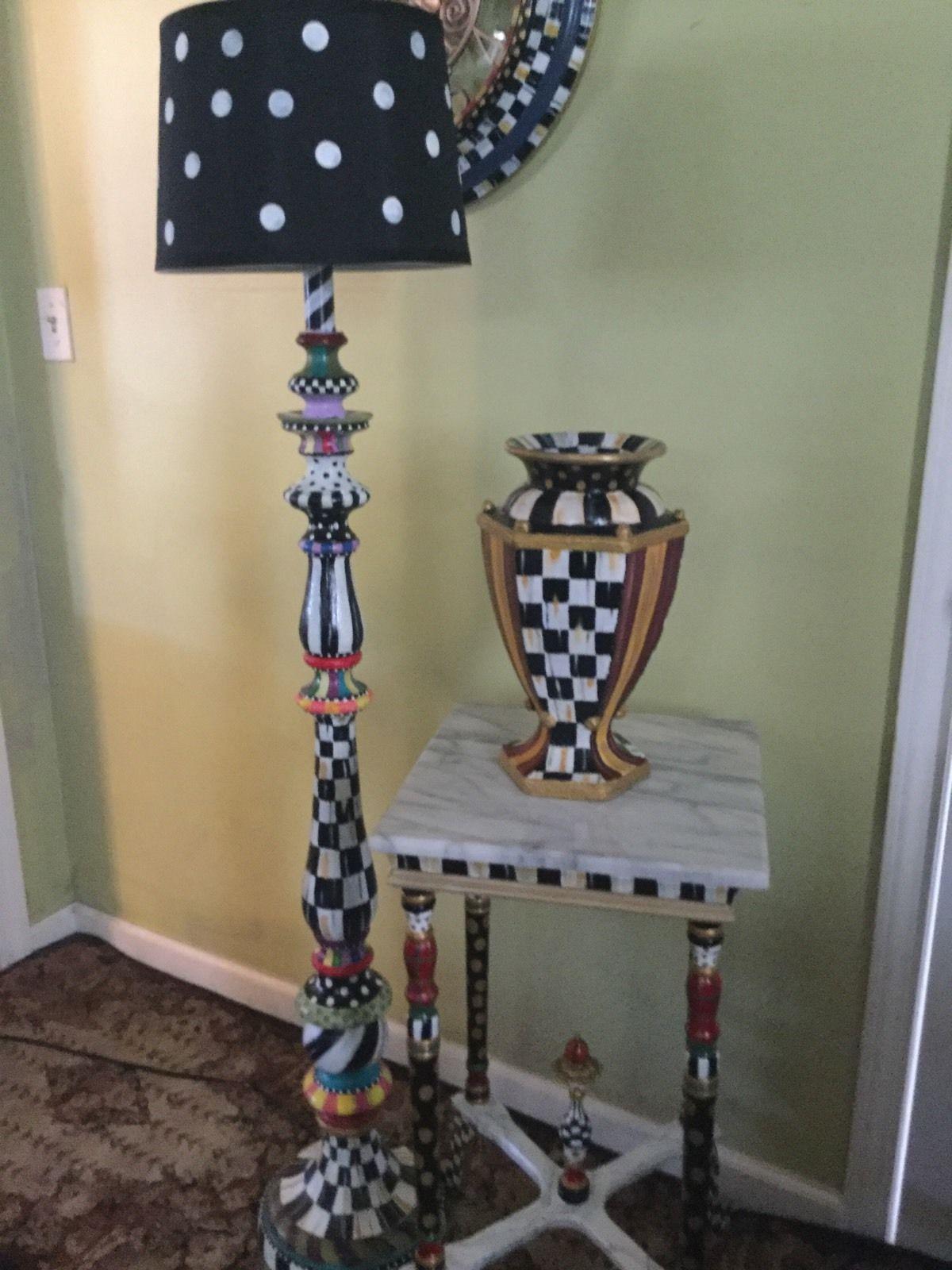 My own hand painted floor lamp mackenzie childs napkins ebay my own hand painted floor lamp mackenzie childs napkins ebay mozeypictures Choice Image