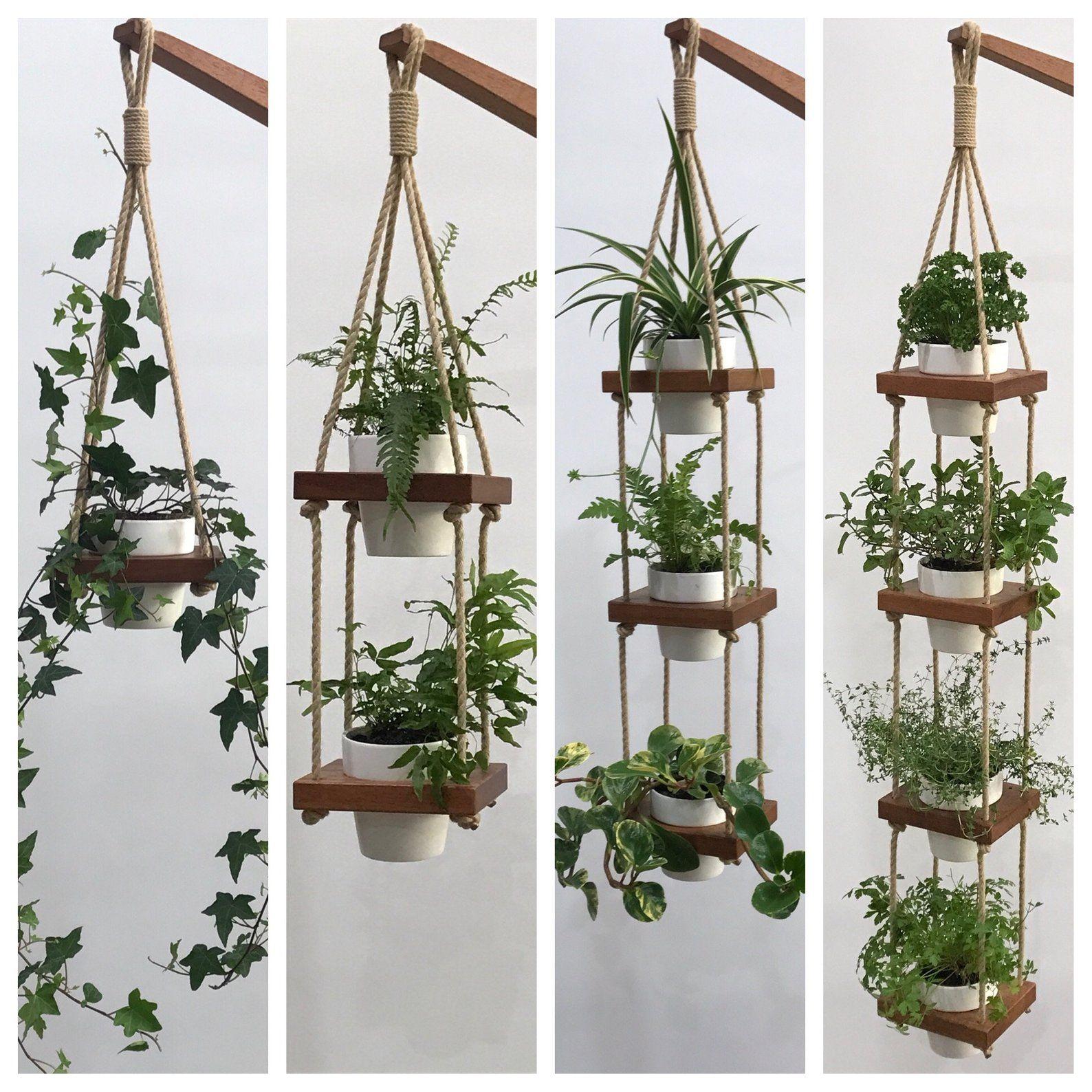 Hanging Planter Indoor Wall Planter Indoor Garden Plant Etsy