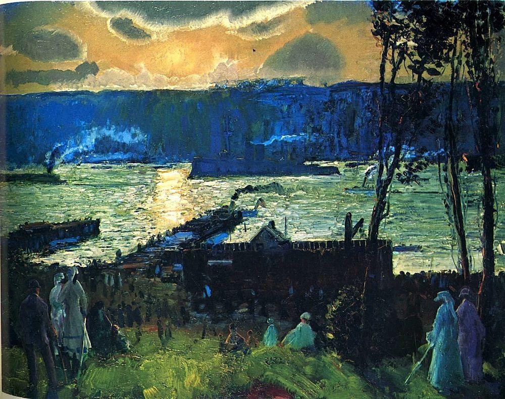 Russian Soviet Oil Painting realism river bridge Landscape ...  |1950s American Realism Art Landscapes