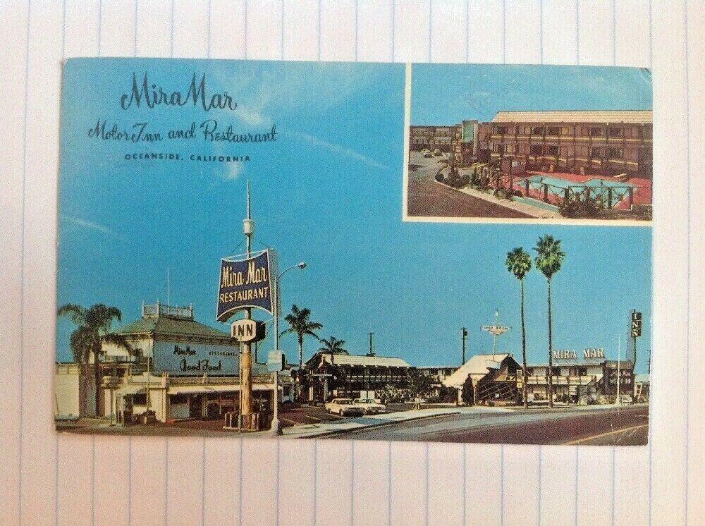 Mira Mar Motel Hotel Restaurant Oceanside California Old Cars 1960s Oceanside California Oceanside Hotel Restaurant
