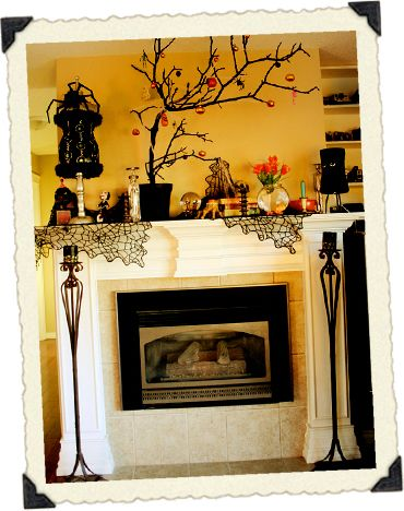 Enchanted mantles Mantle, Halloween ideas and Halloween fun