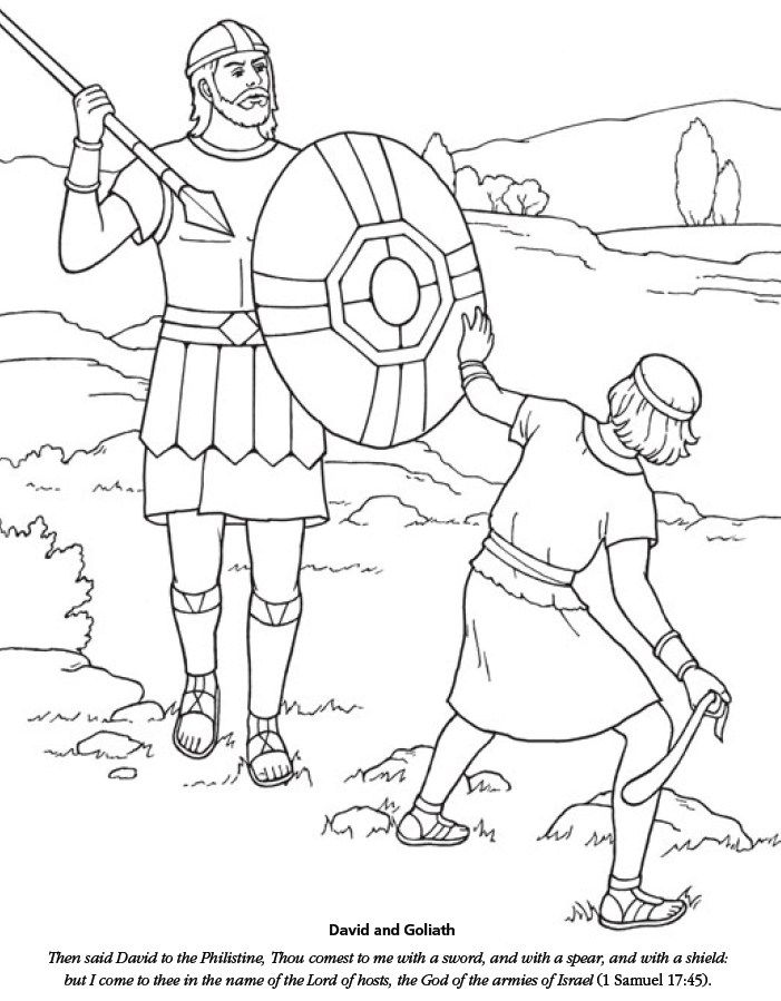 David And Goliath Coloring David And Goliath Bible Coloring