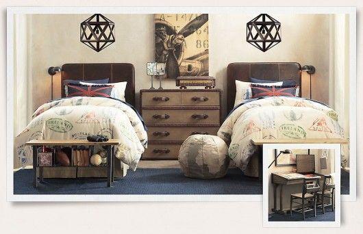 double twin beds bedroom