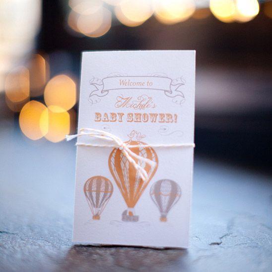 Hot air balloon baby shower invites Baby Shower Pinterest