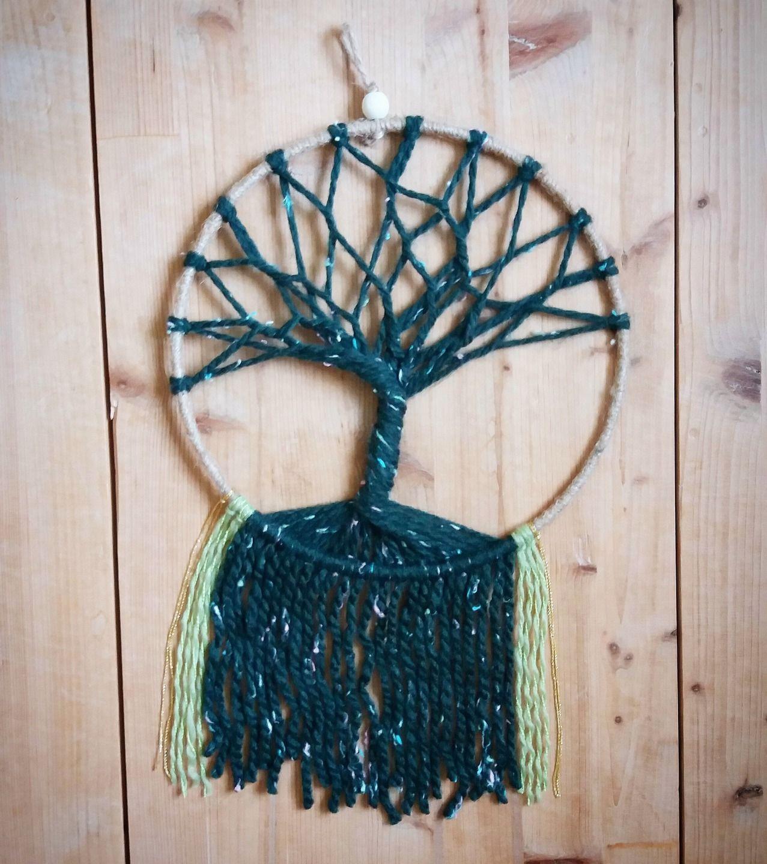 arbre de vie d coration murale attrape r ves d corations murales par wildfolkatelier. Black Bedroom Furniture Sets. Home Design Ideas