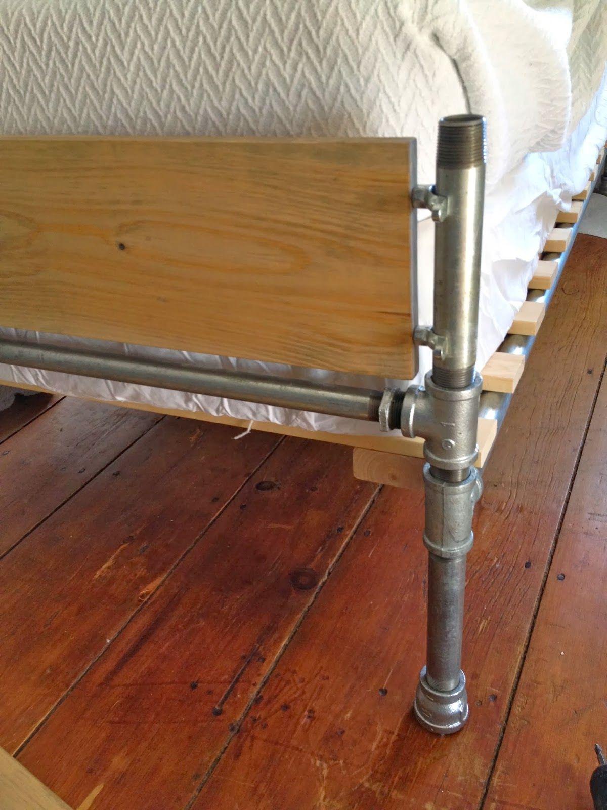 Diy Pipe Wood Slats Bed Bed Pipe Bed Bed Frame Bed