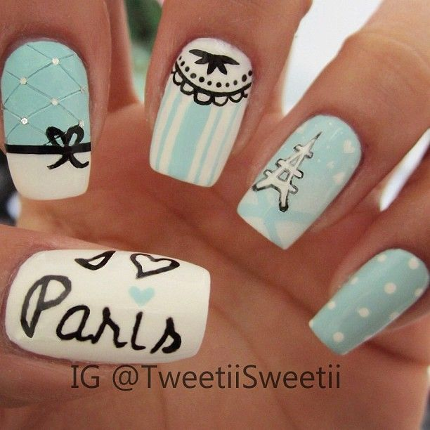 Paris nail art - Paris #nail #nails #nailart AROUND THE WORLD THEMED NAILS