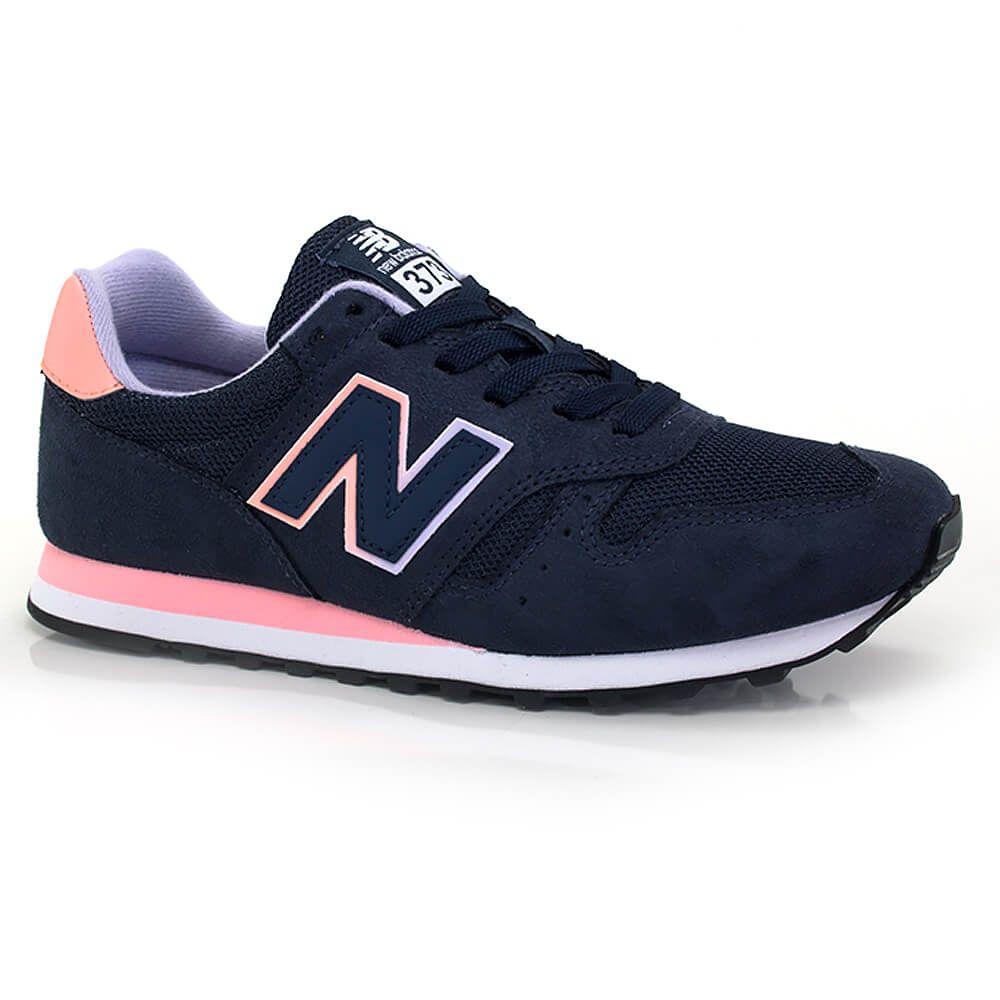new balance feminino rosa e azul marinho