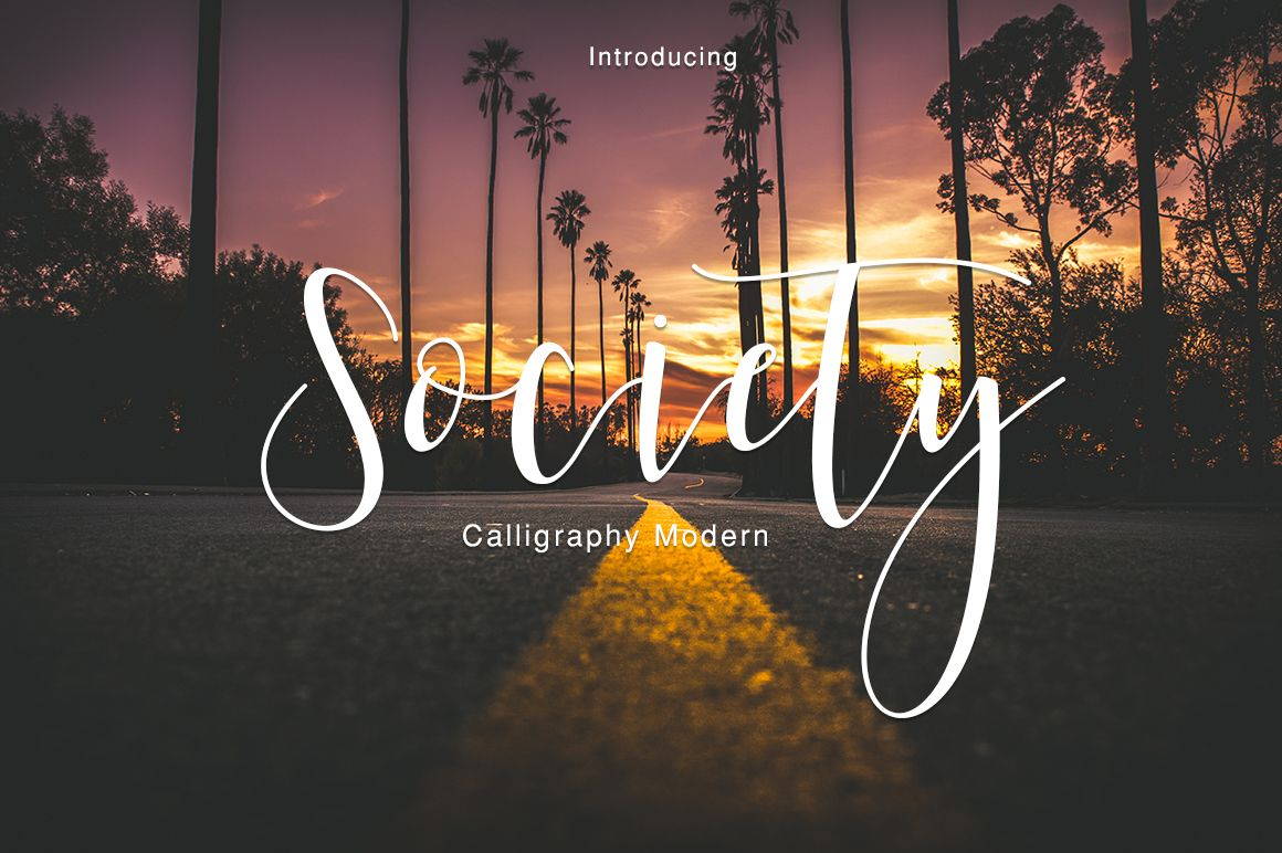 Society Calligraphy Modern Fonts and Typefaces
