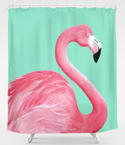My 10 Favorite Flamingo Shower Curtains 24 More Flamingo