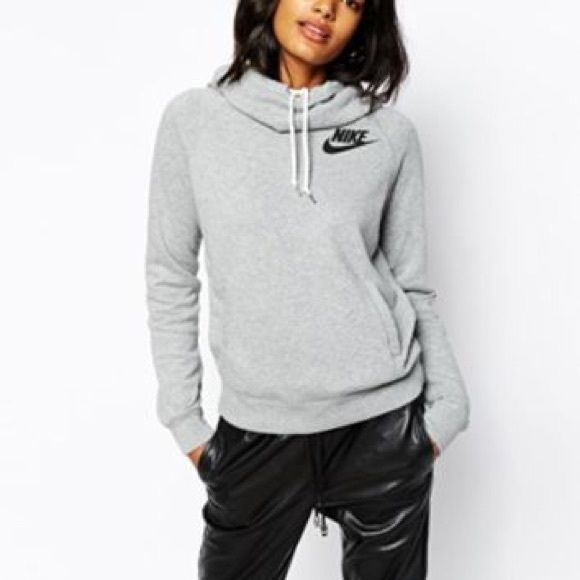 Nike Funnel Neck Pullover w/ hoodie | Pullover, Conditioning and Gray