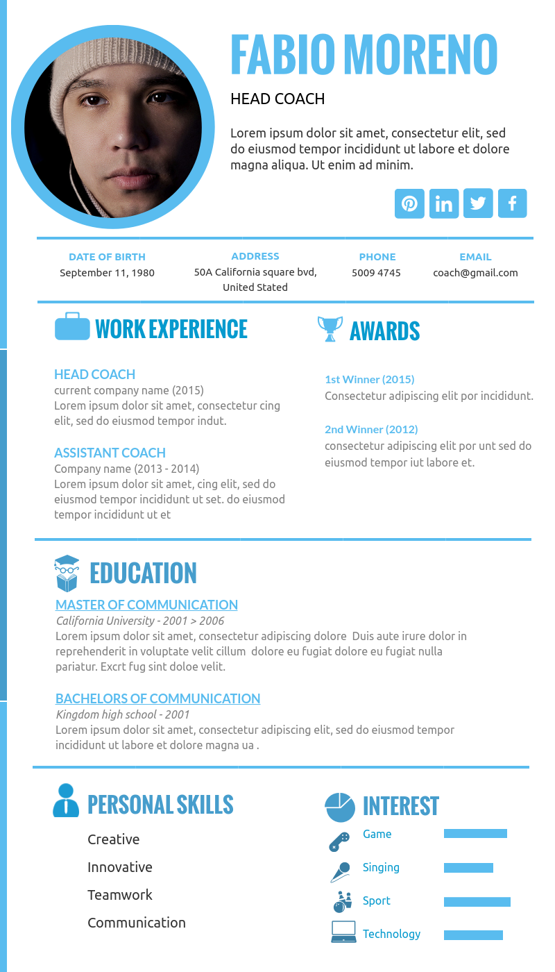 Awesome Resume Design Ideas And Templates Available In Visme Resume Design Resume Perfect Resume