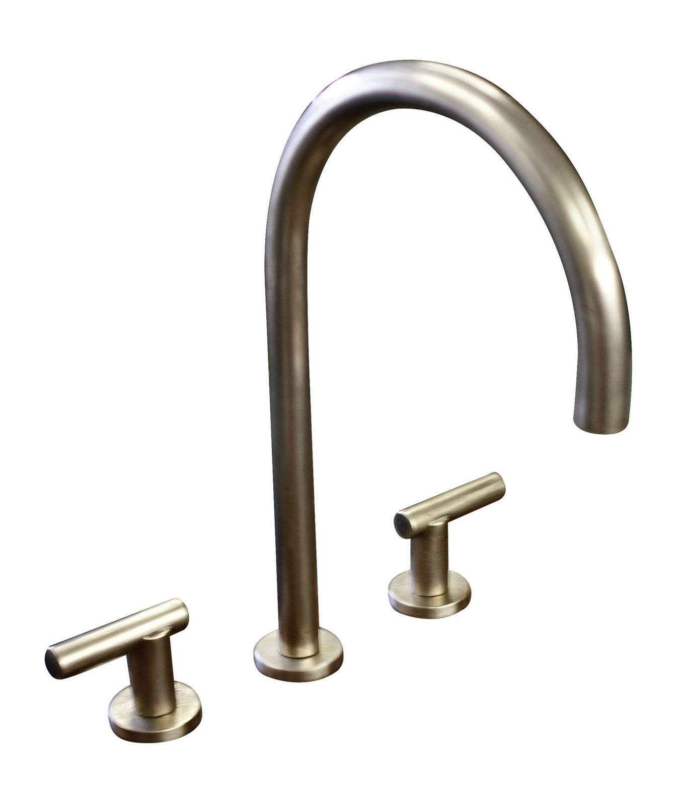 Goose Neck Faucet, white bronze; Sun Valley Bronze | Accessories ...