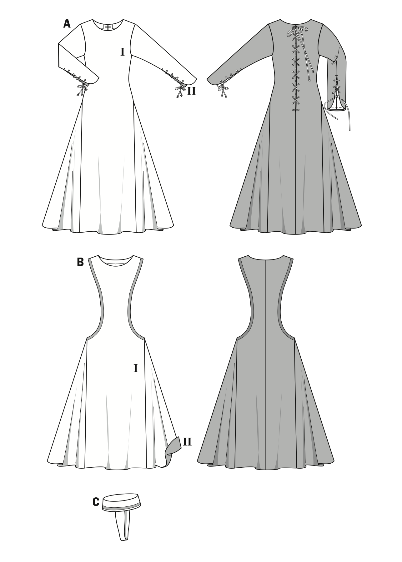 BD7977 Medieval Dress Costume | DIY costumes | Pinterest | Sewing ...
