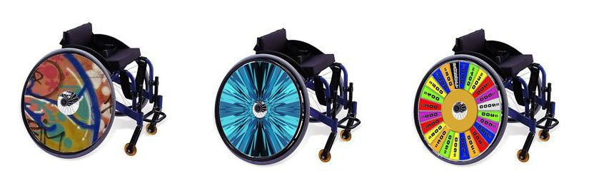 Wheel Covers Spoke Guards With Printed Images By Coolhubcaps Wheelchair Wheelchair Accessories Wheel Cover