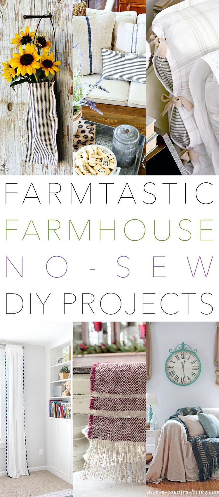 Farmtastic Farmhouse No Sew DIY Projects You Need To Make! (The ...