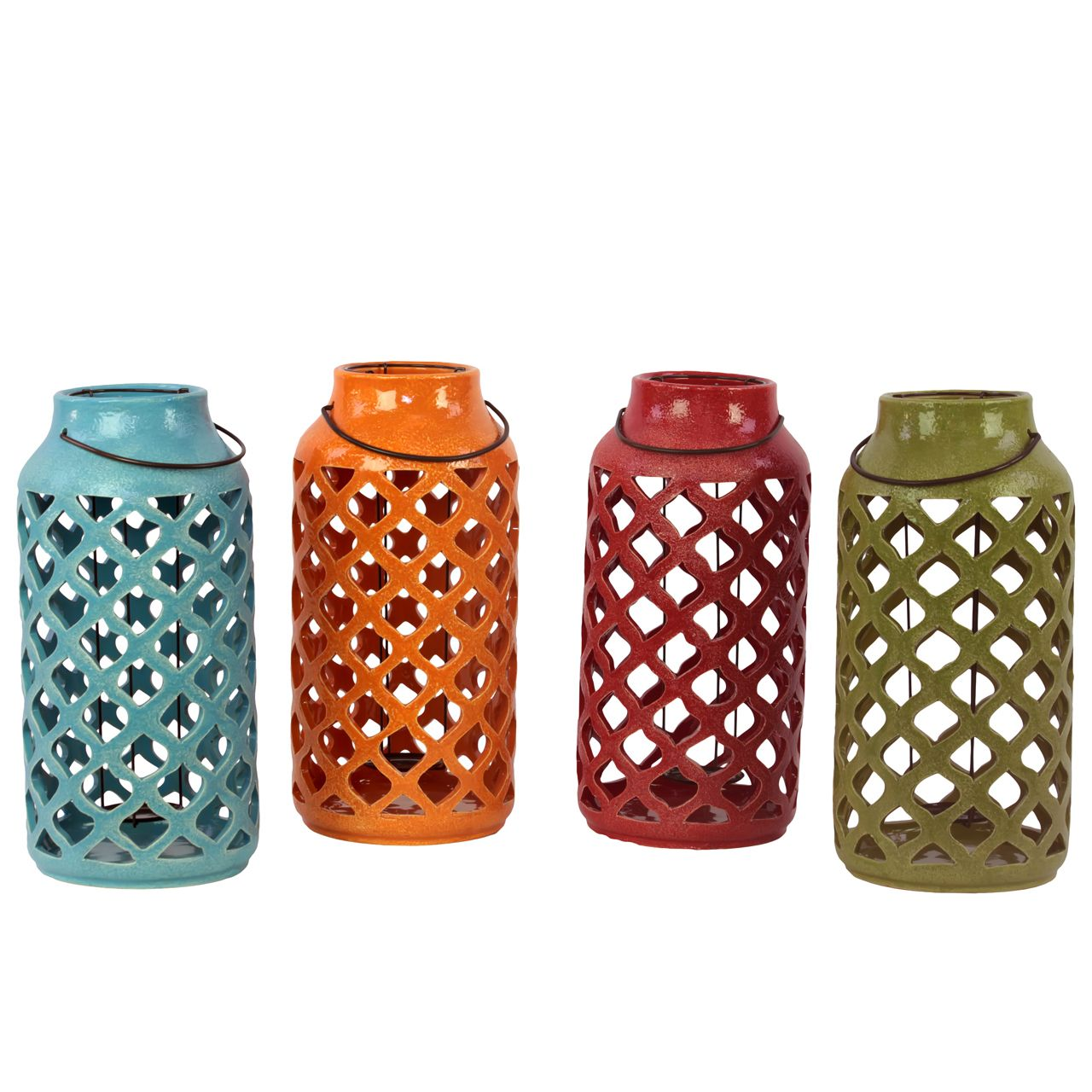 Urban Trends Collection Assorted Color Antique Lantern with