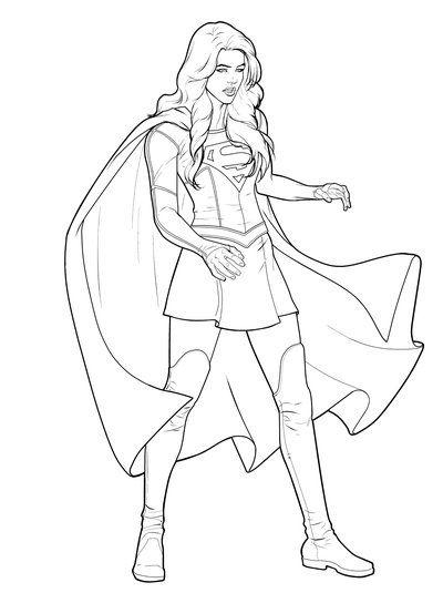 Superchica Para Colorear Dibujos De Supergirl Para