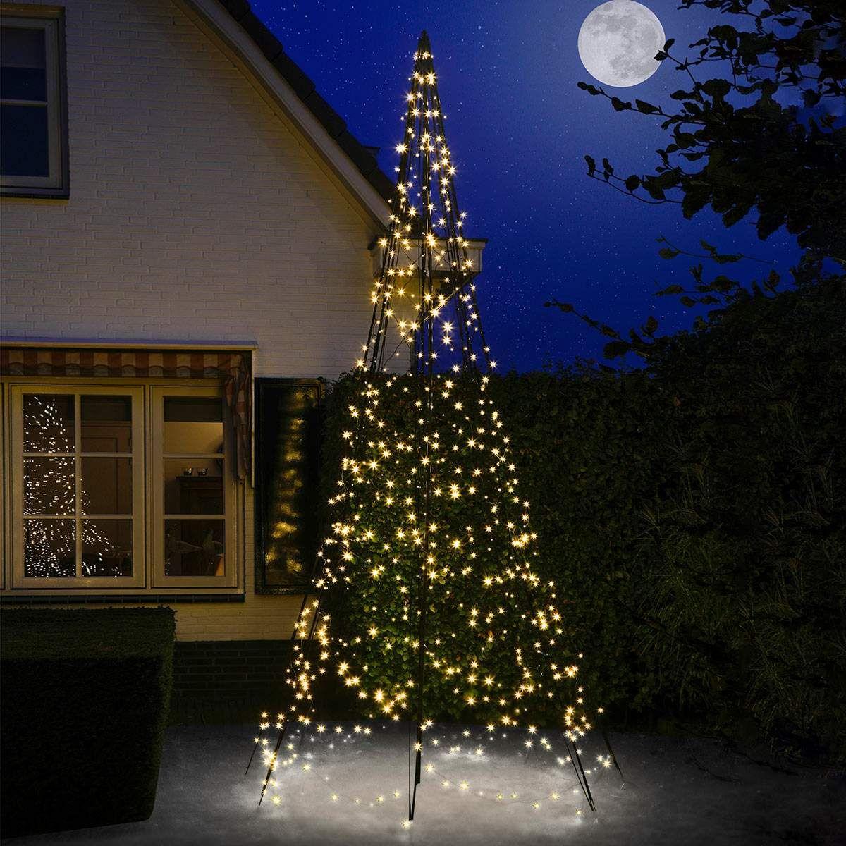 Fairybell Weihnachtsbaum Mit Mast 4 M Weihnachtsbaum Weihnachtsbeleuchtung Led Weihnachtsbaum