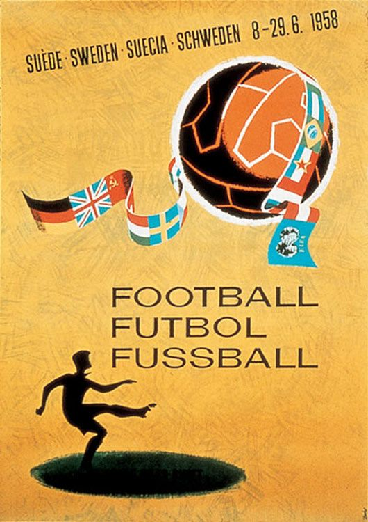 1958 Fifa World Cup Official Poster World Cup World Cup Logo Soccer World