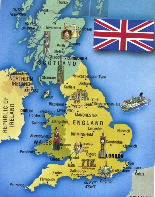 10 Reasons to Holiday in Britain Tourist map Britain and British