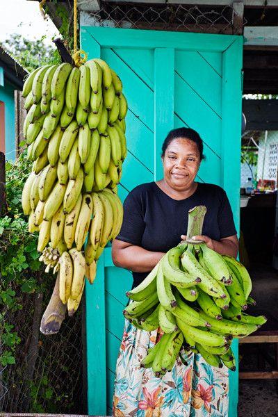 Mujer en Bocas del Toro, la urbe principal del archipiélago del mismo nombre, situada en la Isla Colón.
