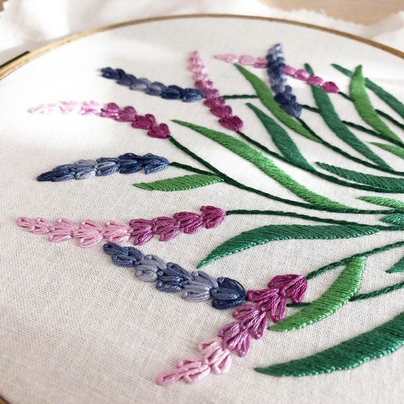 Lavender Hand Embroidery Pattern Digital Download Pdf Etsy Hand Embroidery Pattern Embroidery Stitches Tutorial Hand Embroidery Kit