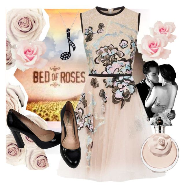 """""""Bed of roses"""" by dmg555 ❤ liked on Polyvore featuring Elie Saab, Miu Miu and Kobelli"""