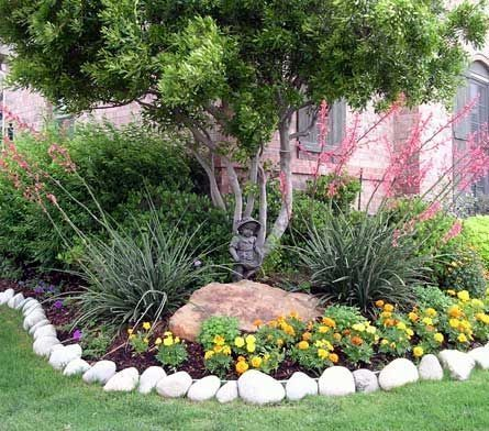 native texas landscapes by bonita front yard on beautiful front yard rock n flowers garden landscaping ideas how to create it id=64869
