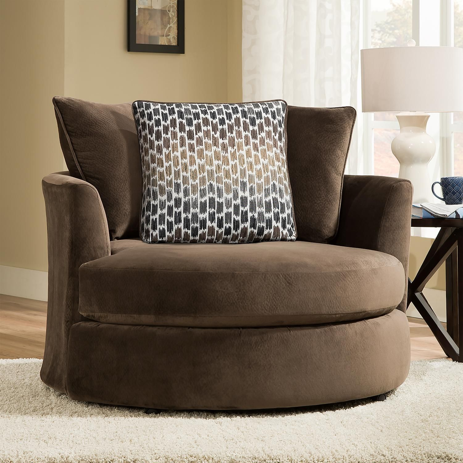 Member S Mark Brooke S Swivel Chair Sam S Club Living Room Chairs Comfortable Living Room Chairs Upholstered Chaise Lounge