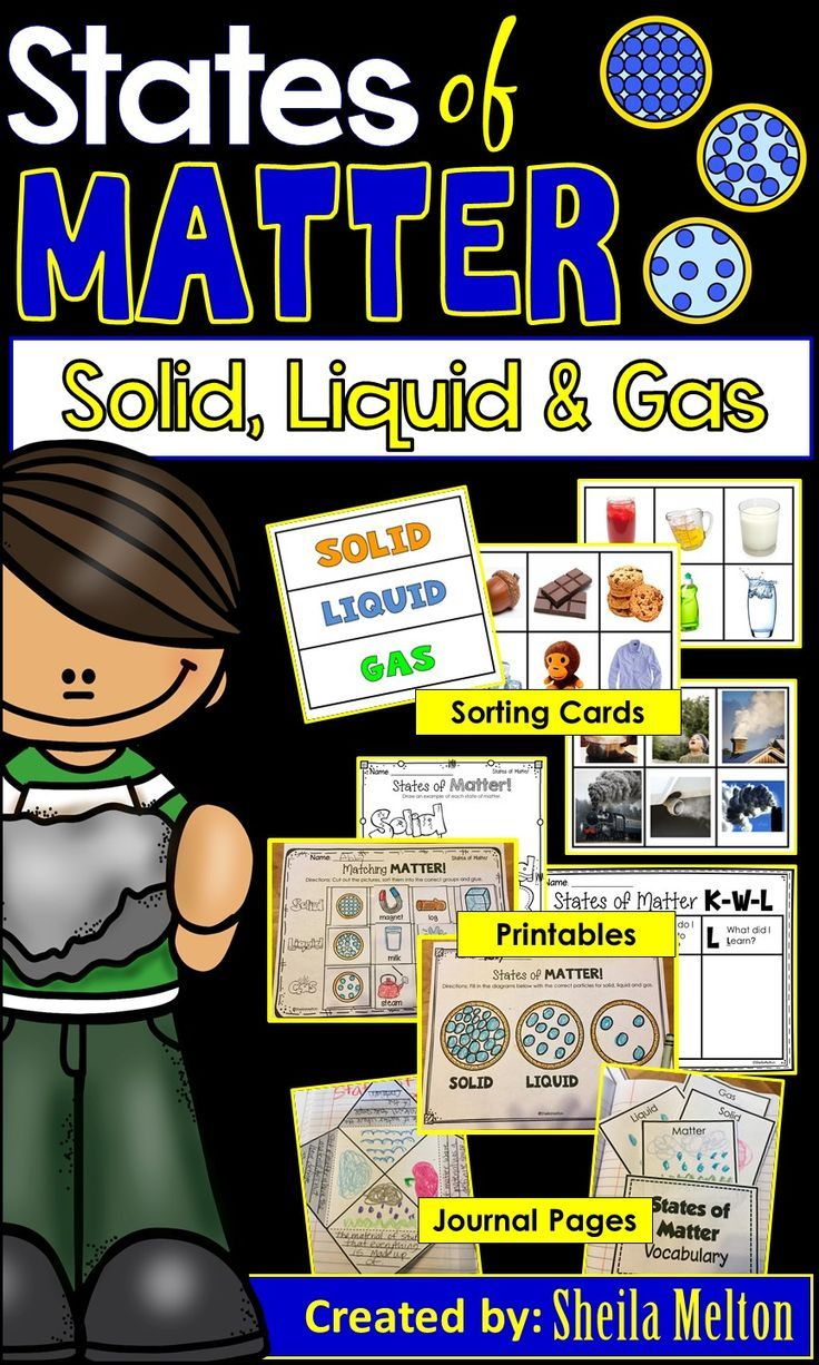 Prove to your students that solids liquids and gases really do MATTER with these States of Matter real pictures to sort worksheets and science notebook foldable activitie...