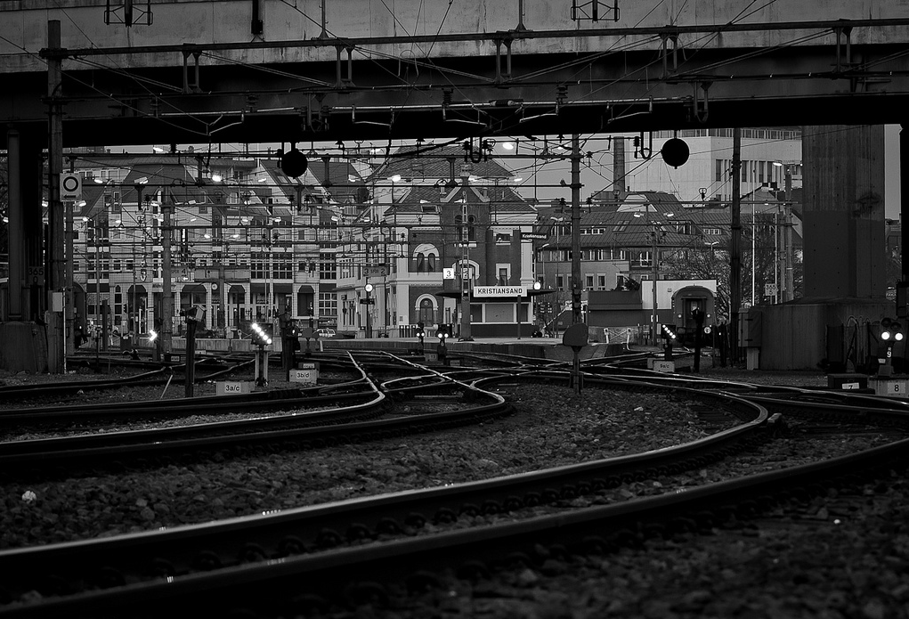 Train station in Kristiansand - Photo by Lars Erik Nes: http://www.flickr.com/photos/larseriknes/5632606028 #sjapper