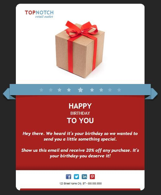 Customer loyalty is more important than ever WOW! Your reader - sample happy birthday email