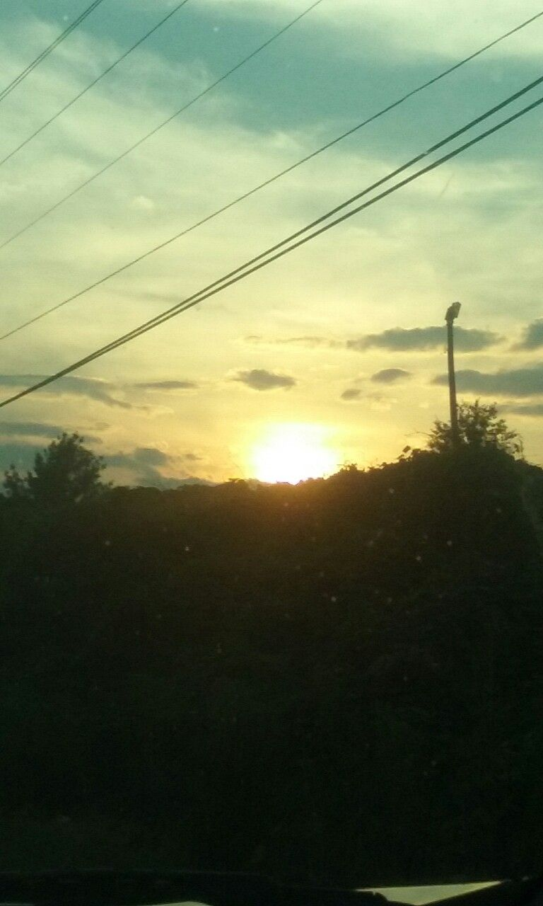 The sunset is beautiful