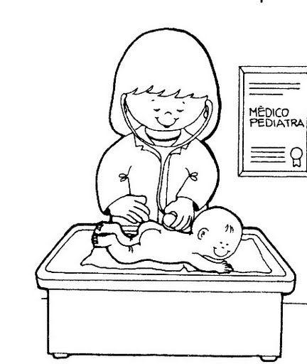 Pediatra   Oficios   Pinterest   Profesiones, Colores y Preescolar