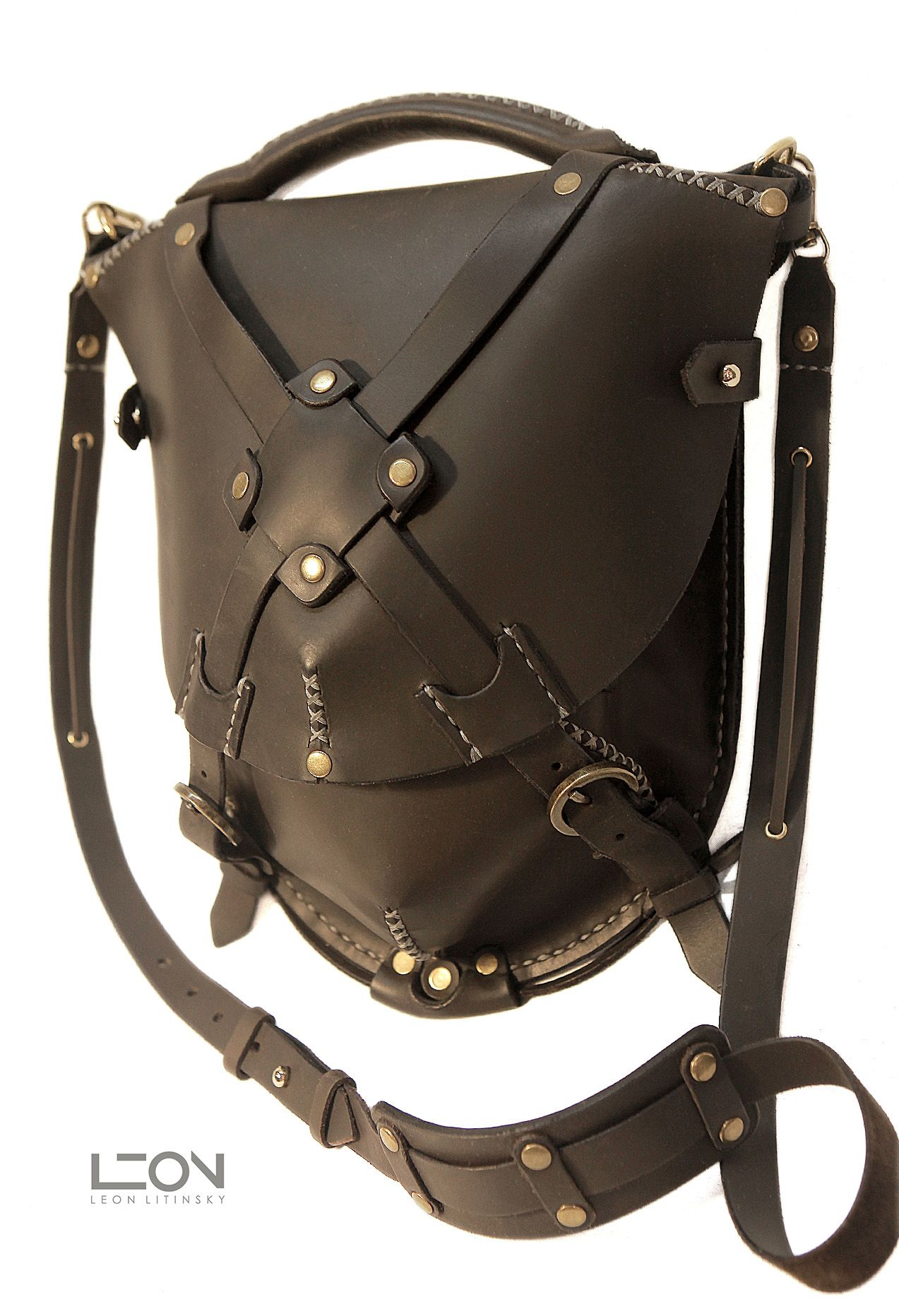 Leather Bag by Leon Litinsky.  New technology- Matte, Full Grain, Waterproof Leather.