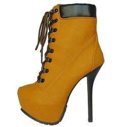 iMEILY Women's Shoes Platform Round Toe Stiletto Heel Ankle Boots , Camel , US6 / EU36 / UK4 / CN36