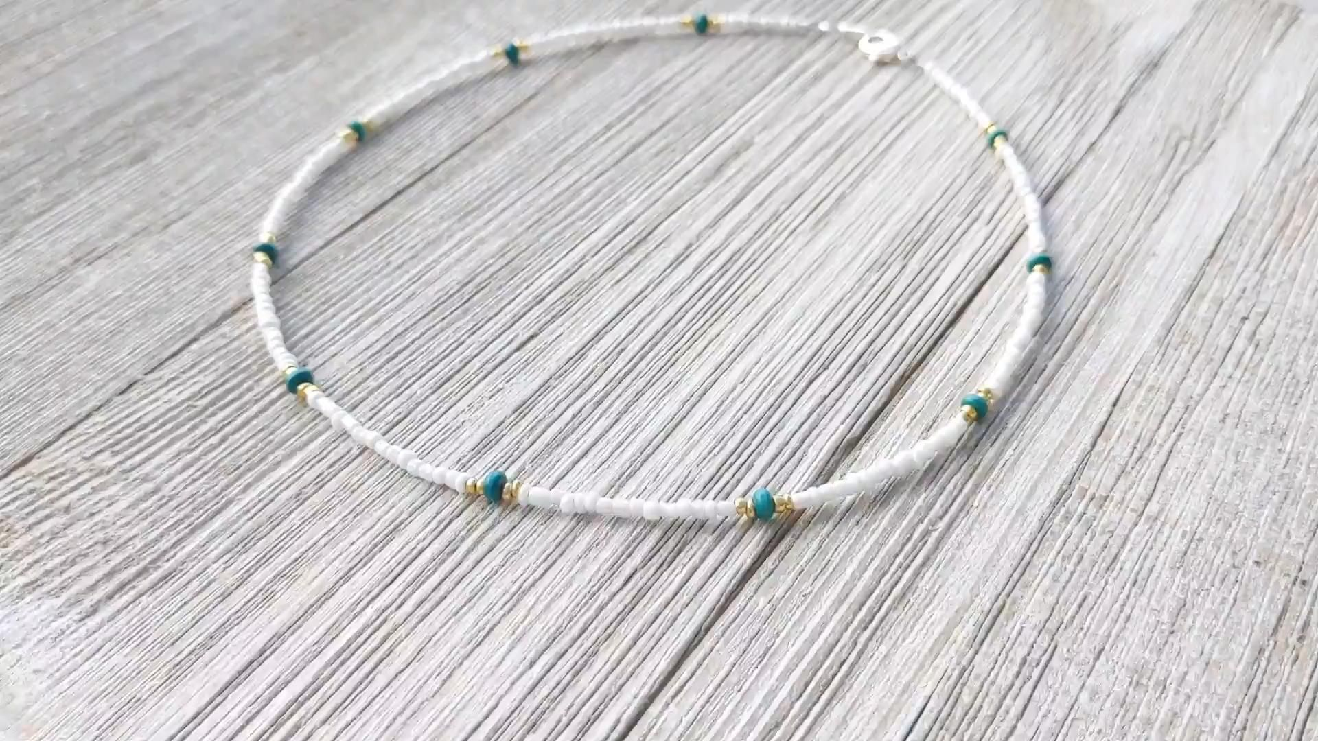 Photo of Handmade Seed Bead Choker Necklace | Caitlyn Clare Flair