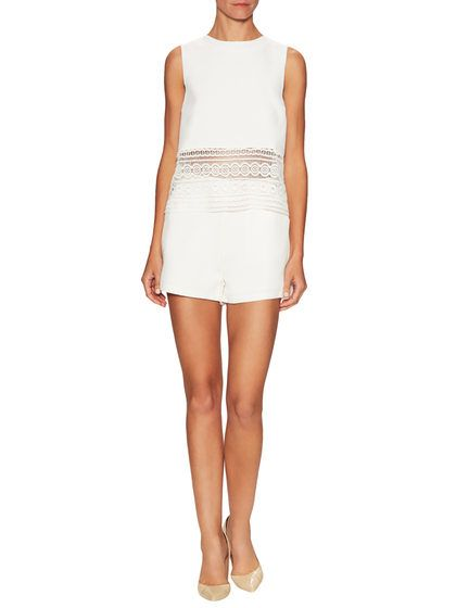 Woven Lace Romper by EnglishFactory at Gilt