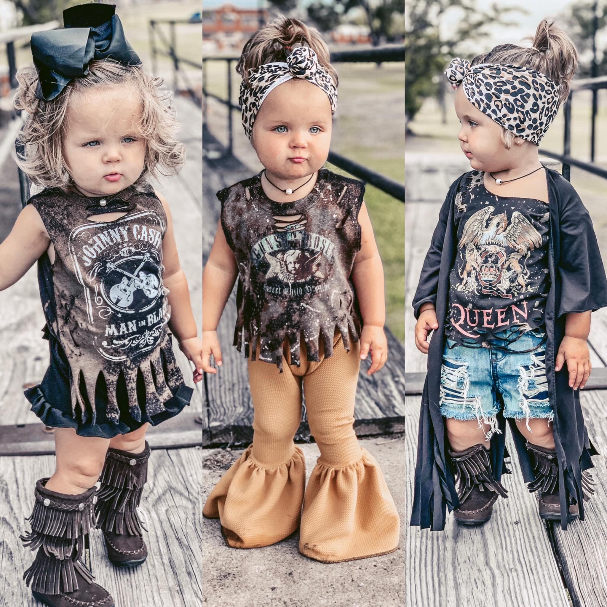 My Future Rockstar  Chic baby girl outfits, Western baby clothes