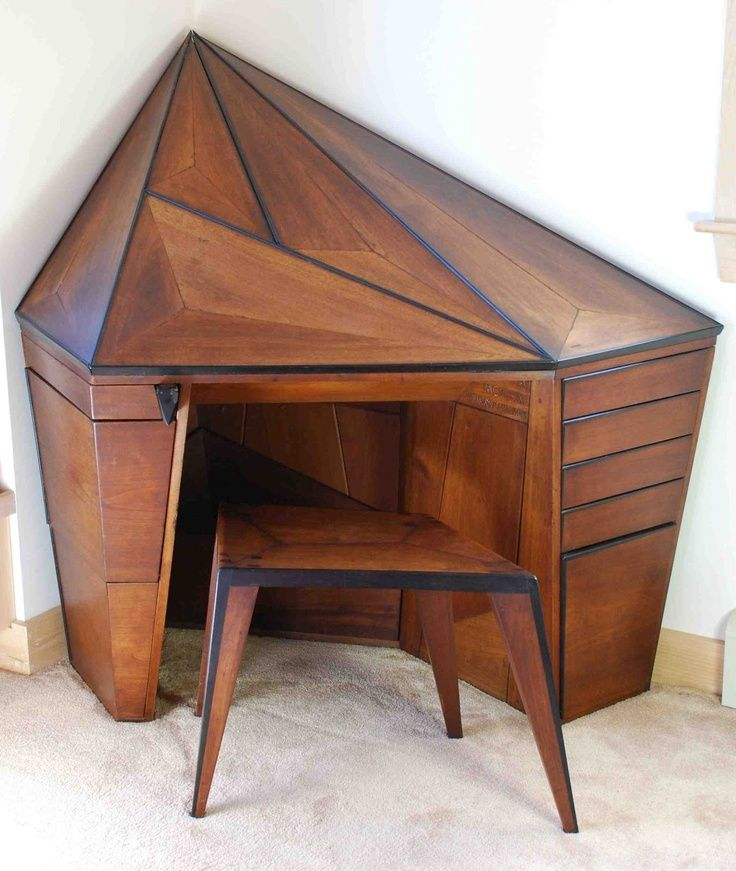 Desk By Wharton Esherick Masterful Furniture Pinterest Desks - Art deco furniture designers desks