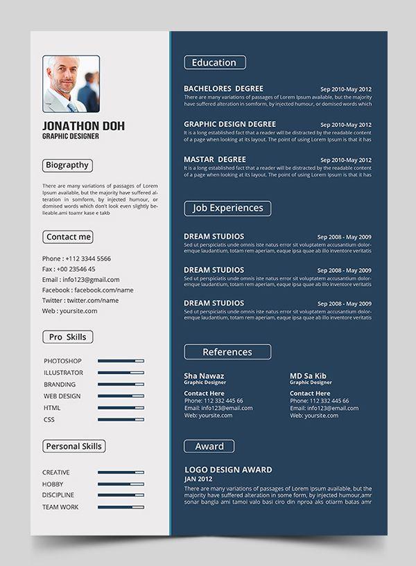 15 Free Elegant Modern Cv Resume Templates Psd Freebies Graphic Design Junction Creative Resume Template Free Resume Template Free Modern Resume Template Free