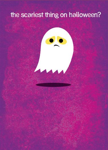 Little Ghost Funny Halloween Card Halloween Miss You Ghost | Miss You, Boo  Hoo,