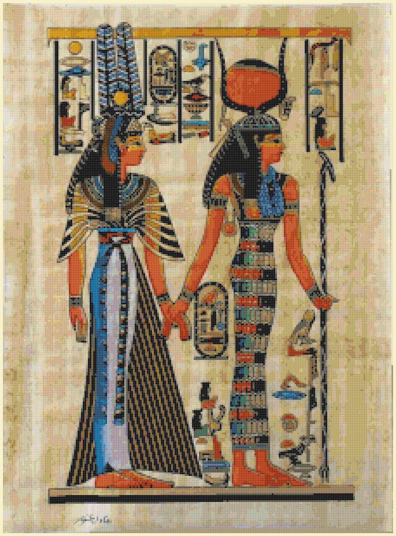 Egyptian cross stitch pattern pdf hieroglyphs pattern