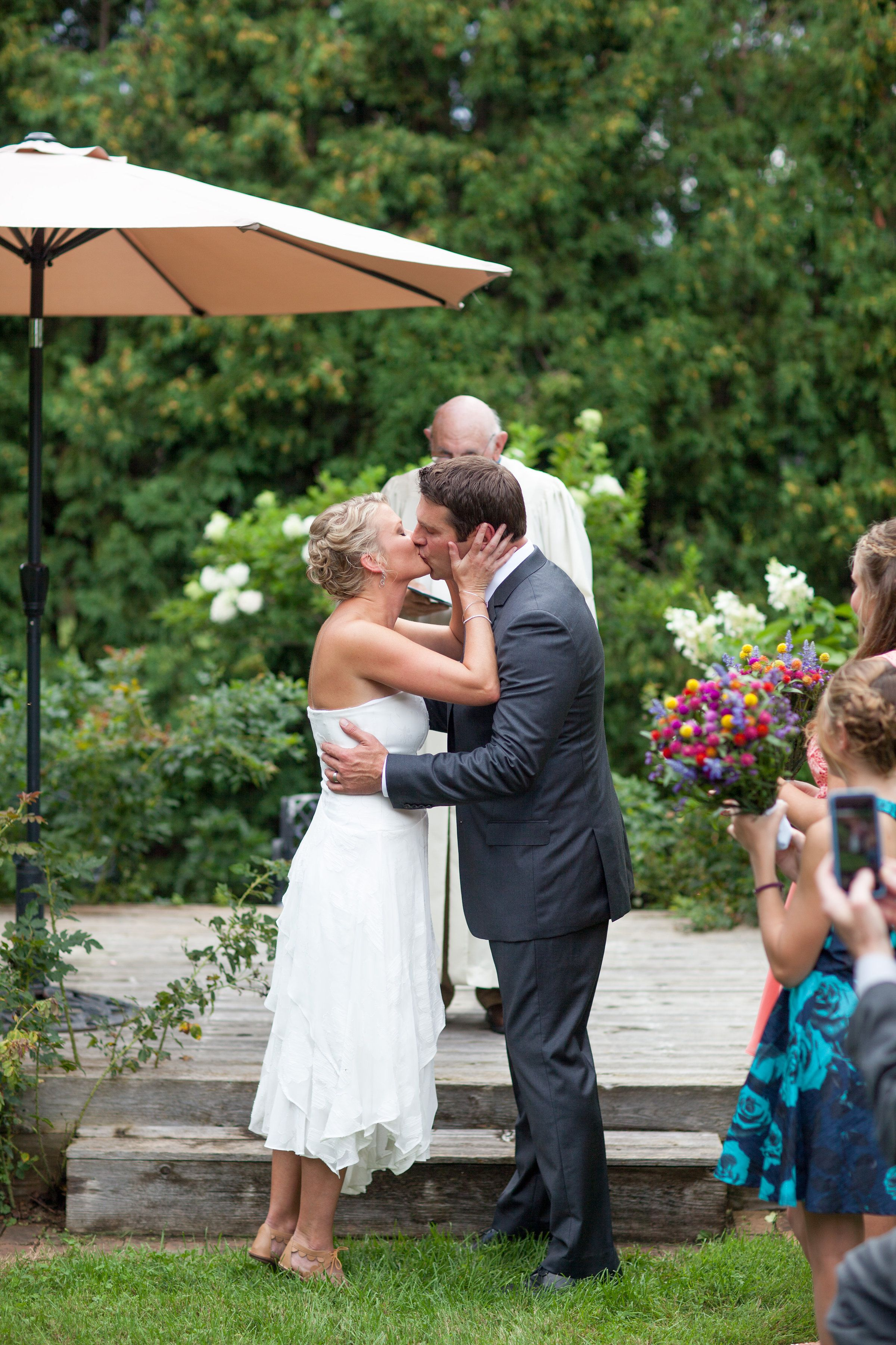 Garden wedding ceremony at The Carriage House in South